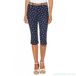 Rafaella clam digger ⚓ capri jeans sz 10 NWT